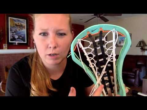 How to string a Womens Lacrosse Stick - YouTube
