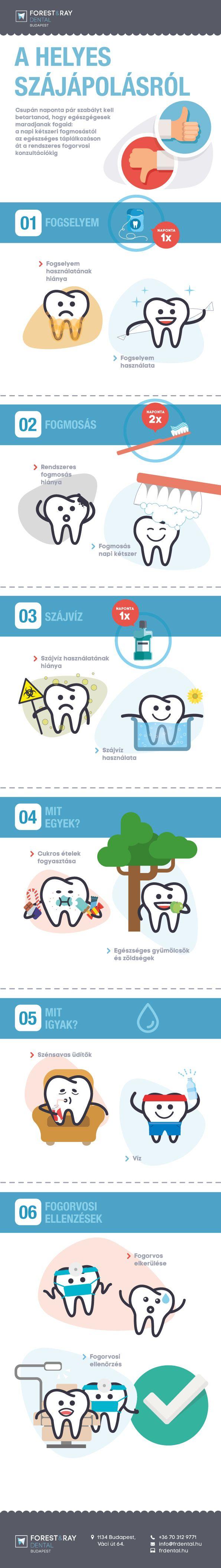 Szeretnéd, hogy a fogaid egész nap tündököljenek a tisztaságtól? Íme 6 tipp az egészséges fogakért. #fogászat #fogorvos #fog #szájhigiénia
