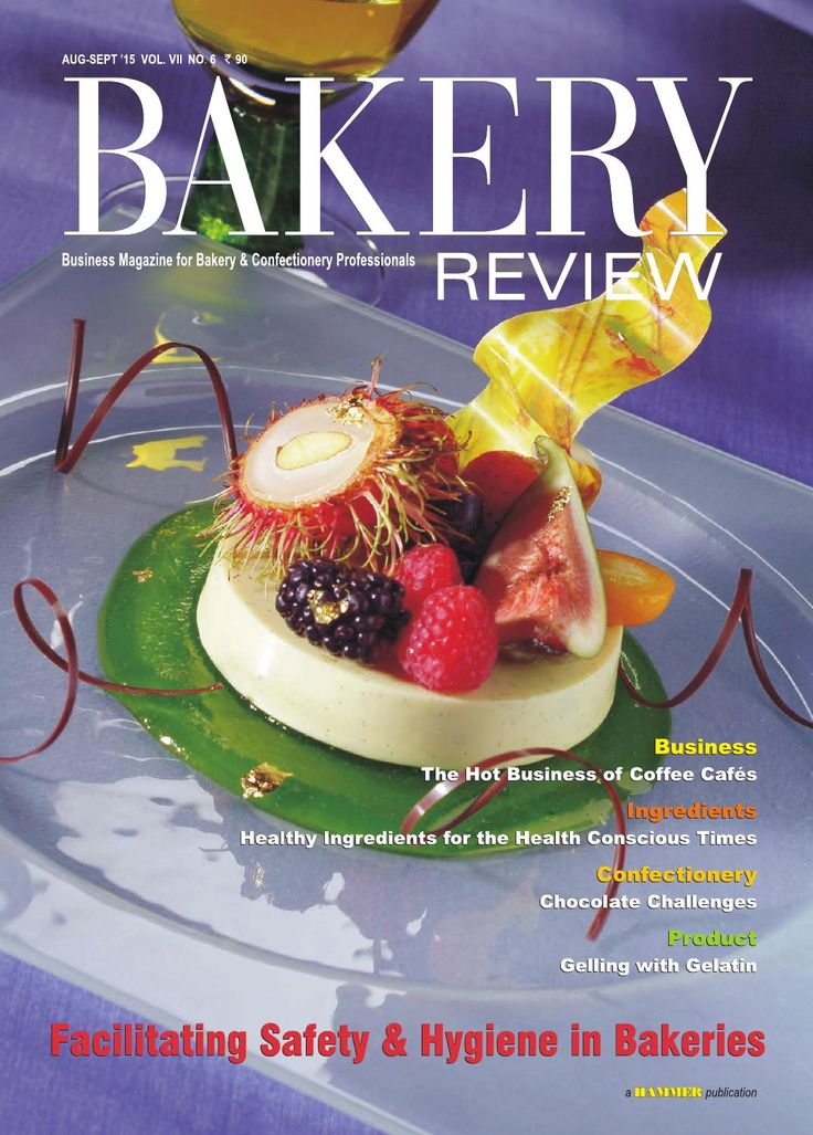 Bakery Review ( Aug-Sep 2015)  In this Issue we have covered the crucial issue of safety for bakery workers in bakery production units, and also the maintenance of hygiene of the bakery products. In the Business Story, we have explored the growing coffee café culture across urban India.  The role of bakery products towards the profitability of coffee café s is also being highlighted in the story, as are the possible impediments towards these coffee cafés' and bakery cafés' profitability…