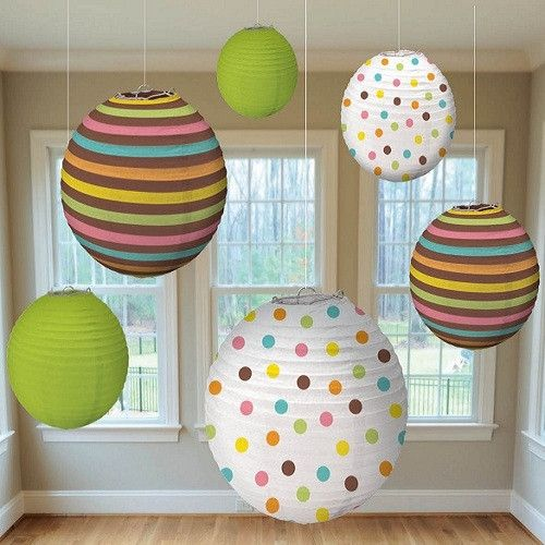 These adorable Paper Lanterns will adorn any indoor or outdoor space by adding color and charm to your event.