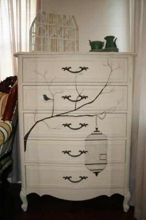 love this, might have to do something like this on my funiture, would match perfectly how I want my bedroom by VenusV