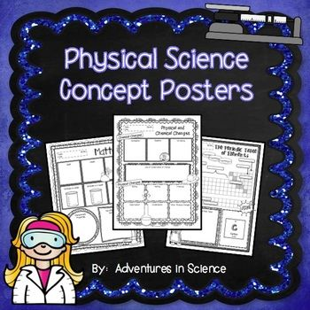 Physical Science Concept Posters are a great way for students to demonstrate their understanding of a particular science concept or standard. They can be used as classwork, homework, sub plans, or in lieu of a more formal assessment. They also look fantastic posted on a bulletin board!  The Concept Posters in this set are aligned to the Massachusetts Physical Science Standards in Grades 6-8 and the Next Generation Science - Middle School Physical Science Standards.  $