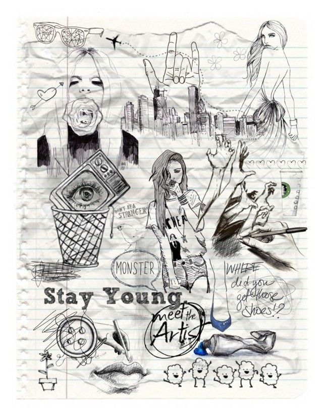 My doodle by koddey on Polyvore featuring art and doddle