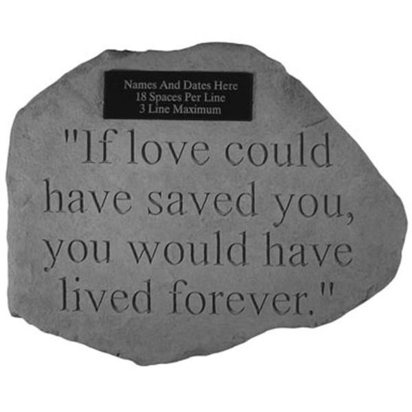 Personalized Memorial Garden Stone...for beneath the tree we'll plant for Ben next summer at the lake...