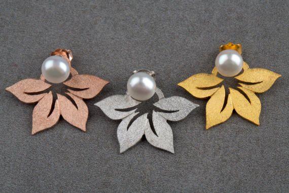 Μαργαριτάρι σακάκια σκουλαρίκι στο αυτί φύλλα μανσέτα σακάκι σκουλαρίκια μαργαριταρένια