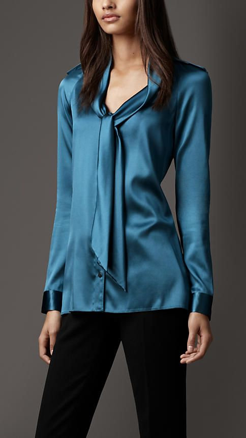 Burberry London Tie Neckline Blouse
