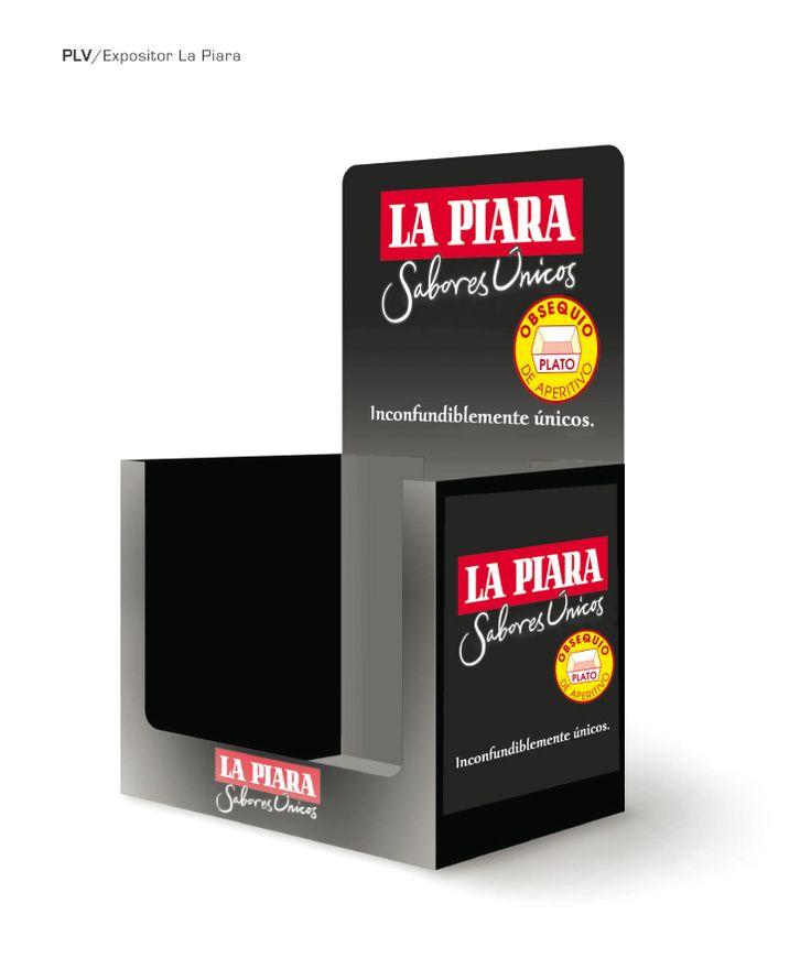 Expositor caja La Piara #diseño #expositor #publicidad #grafico #nutrexpa  Síguenos en: www.pinterest.com/artcomunicacio