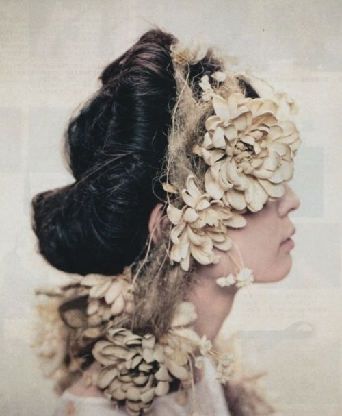 head dress: Hair Flowers, Artists Eye, Head Pieces, Hair Pieces, Flowers Crowns, Floral Headpieces, Blog Ideas, Photo, Ryo Kobo