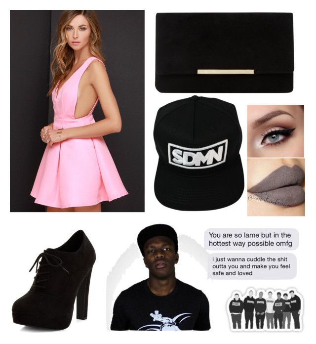 """""""Dinner with the sidemen ~ leah x"""" by miss-coco-muffins ❤ liked on Polyvore featuring LULUS, New Look, Dune and Ultimate"""