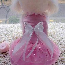 2016 nuovi animali abbigliamento per cani mini rosa viola bianco  Abiti dog dress abbigliamento per cani di piccola taglia vestiti del cane del cucciolo  Vestiti(China (Mainland))