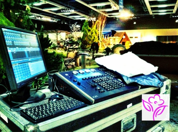 HIGH TECH sound and lights at the @NW Flower & Garden Show held in the Seattle Convention Center  in February.