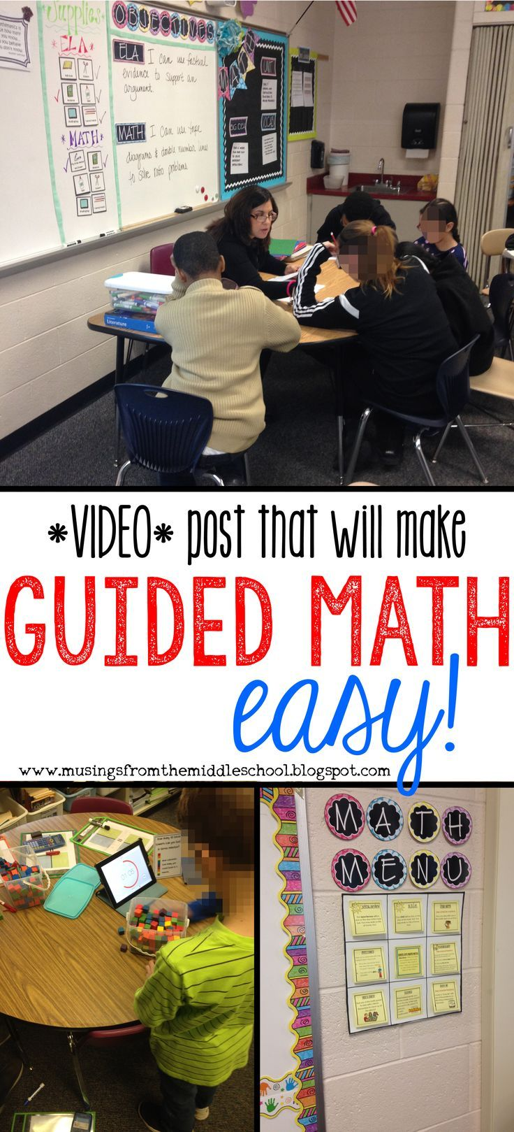 Everything you wanted to know about implementing Guided Math in your classroom... all in one VIDEO!!