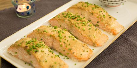 Baked Salmon with Honey Mustard Sauce Recipes | Food Network Canada