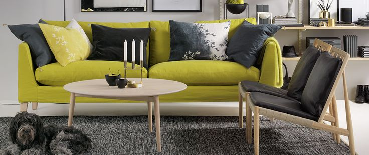 Nice lime sofa from Norrgavel. Like!