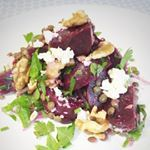 Beetroot Walnut  Lentil Salad  packed with goodies to help you power on through lifeFind this recipe and more by following the link in our bio