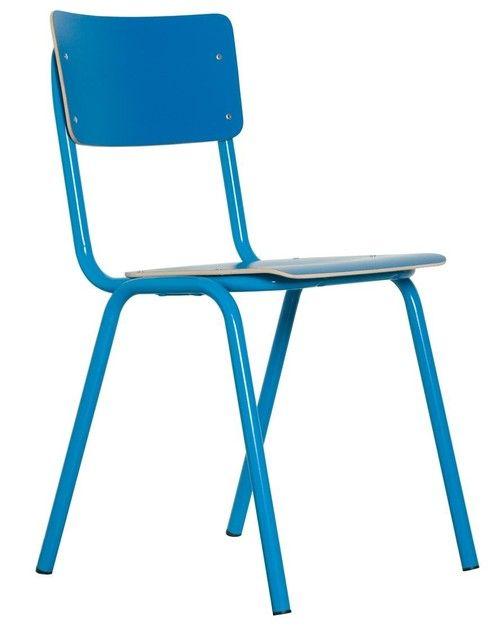 Back to School stoel blauw - Zuiver