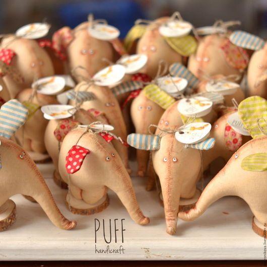 Игрушки животные, ручной работы. Ярмарка Мастеров - ручная работа. Купить Слоны. Handmade. Бежевый, слоник в подарок