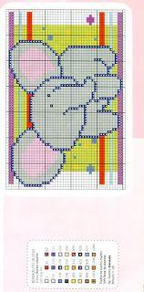 Gráficos ponto cruz da drica: Infantis diversos 1