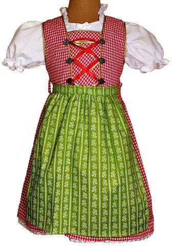 #Kinderdirndl Modell: Susi Rot von CoalaShop – Kinderdirndl Coala, #Trachtenmode für Mädchen