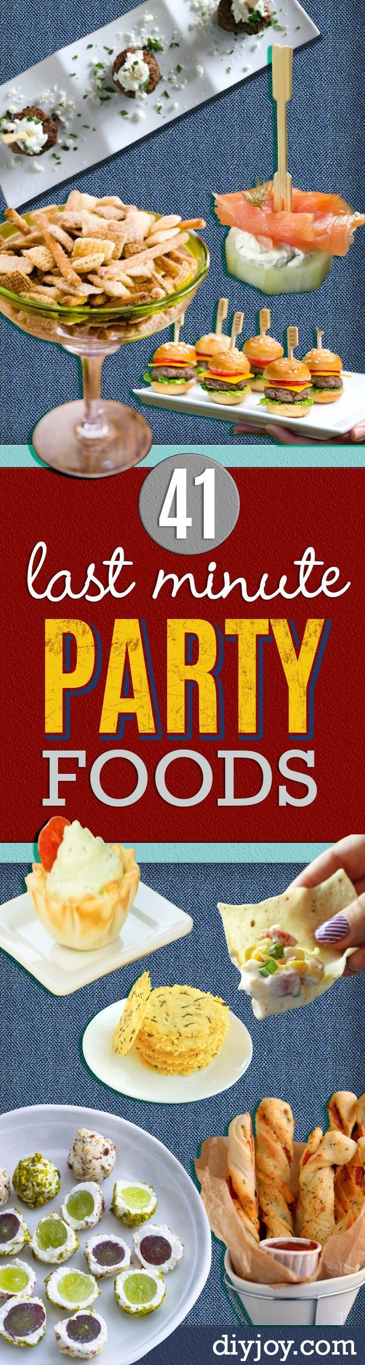 Last Minute Party Food