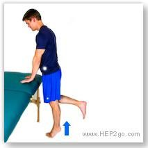 Exercises are an important part of ankle sprain treatment.  Approved use by www.hep2go.com