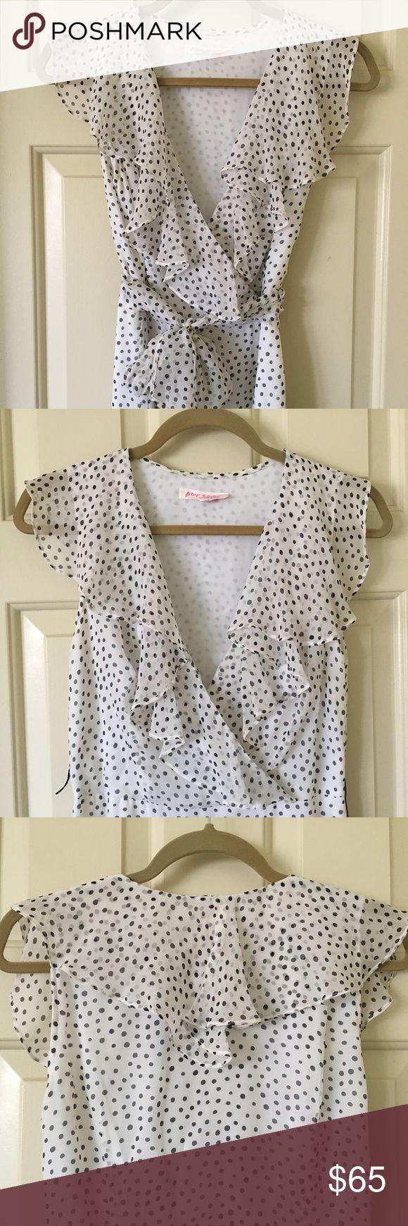 Betsey Johnson Polka Dot Dress Flouncy Betsey Johnson Polka Dot Dress - perfect for a summer night out. Betsey Johnson Dresses Midi