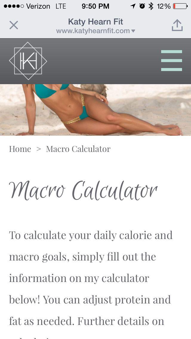 Macro calculator   https://www.katyhearnfit.com/macro-calculator.html