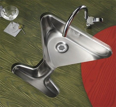 Bar Sink In The Shape Of A Martini Glass