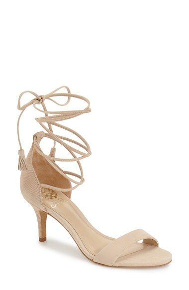 Free shipping and returns on Vince Camuto 'Kathin' Lace-Up Sandal (Women) at Nordstrom.com. Slim suede laces elegantly wrap around the ankle of a chic sandal set on a svelte kitten heel.