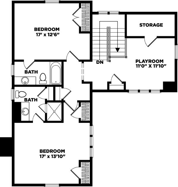 Moser Design Group Wildmere Cottage Floor Plan 2nd