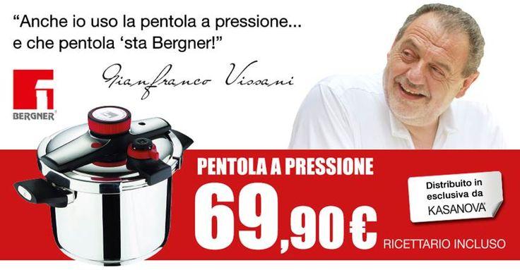 La pentola a pressione Bergner in offerta a 69,90 € nei negozi Kasanova e nello store online: http://goo.gl/6NuQ2t