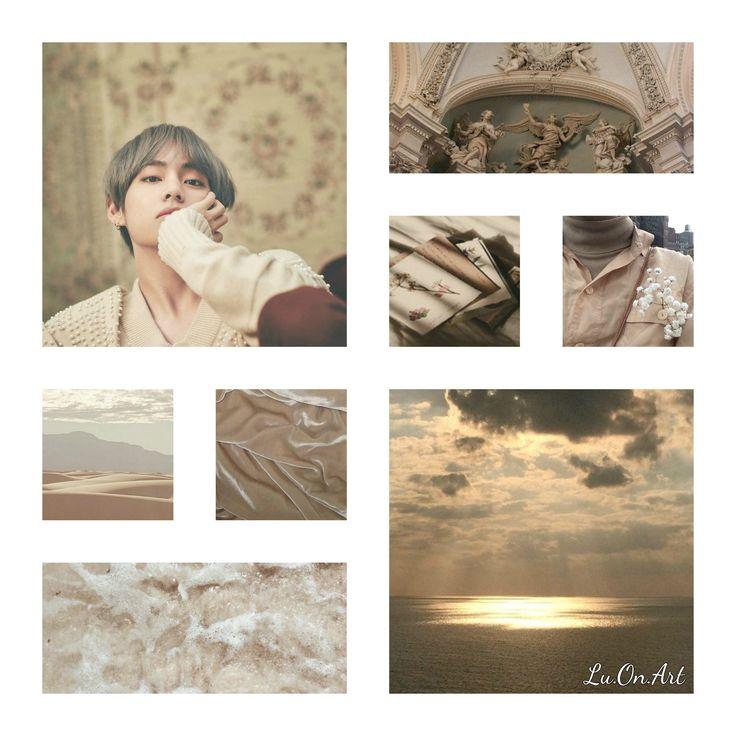 Lu.On.Art Taehyung BTS beige collage
