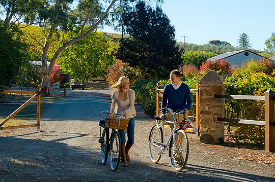Romance and bike riding in the Clare Valley, South Australia