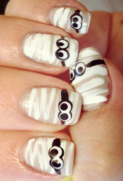 Cute, mummy nail art