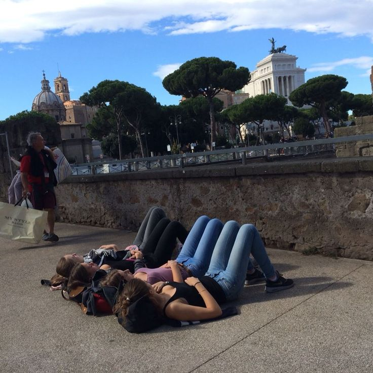 """#StoryTelling Spring is one of the most beautiful season in Rome and also turists like to lie down in the center of the city in the """"Roman-way""""."""