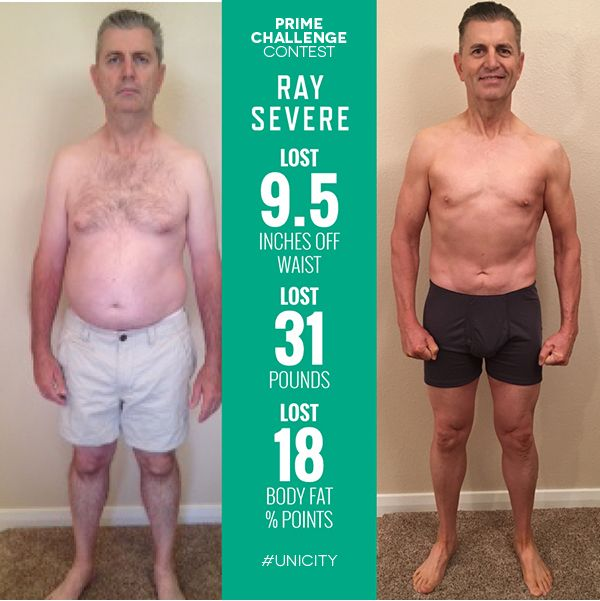 Raymond Severe: Unicity Prime Challenge Runner Up! At the end of his journey Ray had lost 31 pounds and experienced enough energy and mobility to play with his grandkids. #weightloss #health #beforeandafter #Unicity