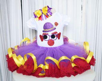 Payaso de halloween traje - niñas traje de payaso - circo Tutu - Tutu - púrpura de vestido de payaso - cumpleaños Tutu - Tutu - Tutu niñas