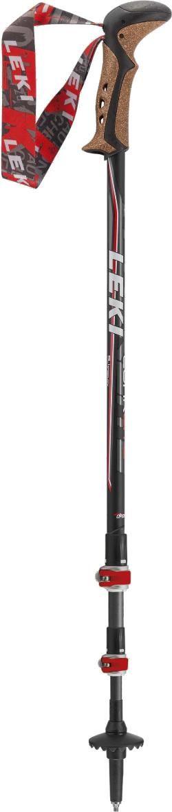 Leki Corklite Trekking Poles - Pair Black/Red