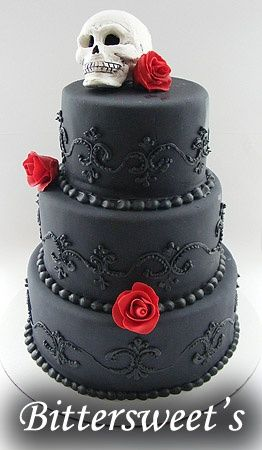 Goth wedding cakes   Gothic Wedding Cakes And Ideas For Gothic Cake Toppers