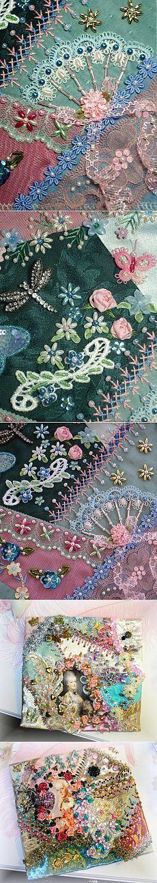 Shabby chic idea bead fan dragonfly embellishments