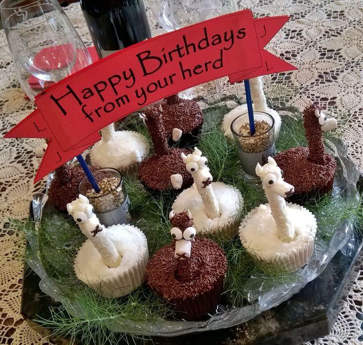 Alpaca Birthday Cake