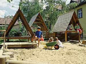 playhouse for playground VILLAGE Euroludique