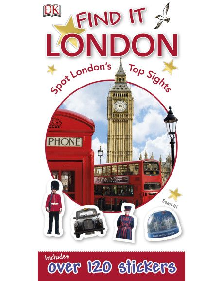 Learn about London the fun way with DK's Find It: London.Ideal for keeping younger travellers entertained, the book includes over 100 stickers