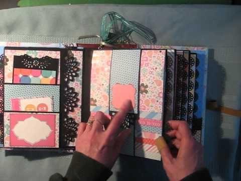 1000 ideas about mini album tutorial on pinterest mini for Waterfall design in scrapbook