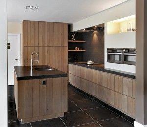 Realisatie massief houten design keuken - Gopa