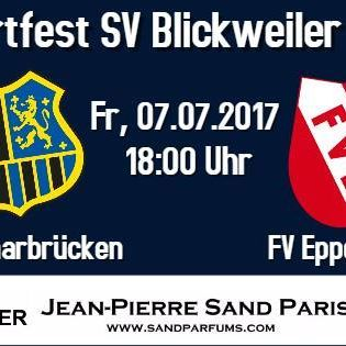1. #FC #Saarbruecken #gegen #FV #Eppelborn (Sportfest #SV Blickweil...  #Das #Sportfest #des #SV #Blickweiler #vom 07.07-09.07.2017 #beginnt Freitags #mit #dem Topspiel #des 1. #FC #Saarbruecken #gegen #den Neuaufsteiger #der #Oberliga Rheinland-Pfalz/Saar #FV #Eppelborn. Einlass #auf #dem Sportgelaende #in #Blickweiler #ist #um 17:00 #Uhr. Anstoss #des Spiels #ist #um 18:00 #Uhr.  #Bitte #beachten #Sie #bei #der Anfahrt #die #im #Ort http://saar.city/?p=66353