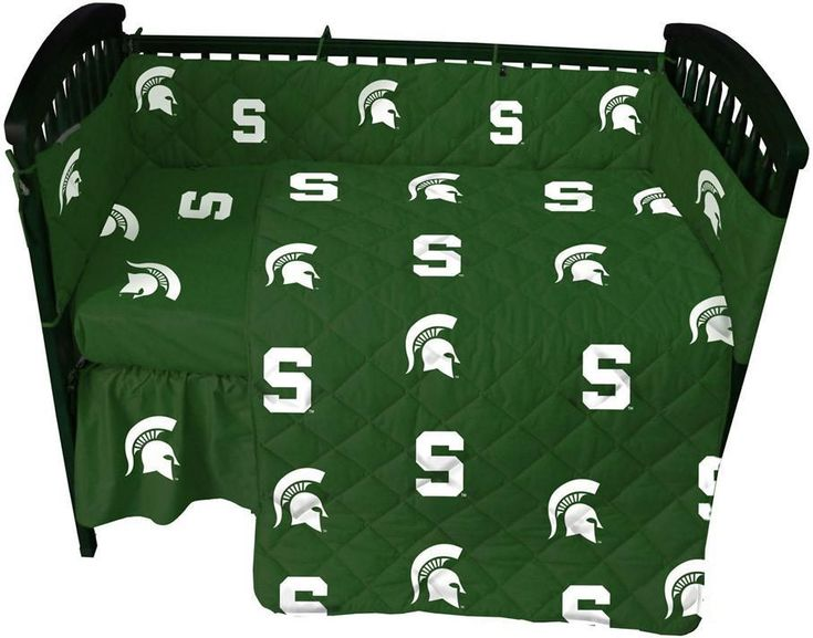 Michigan State 5 piece Baby Crib Set - MSUCS by College Covers