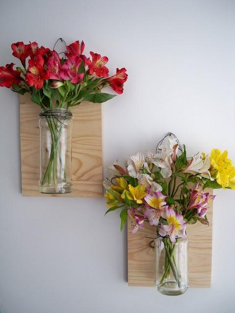 frascos floreros colgantes floating vase