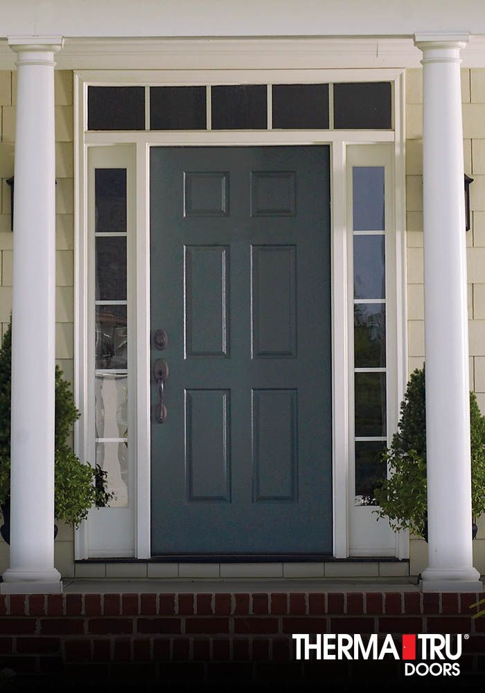 Great Therma Tru Smooth Star Fiberglass Door Painted Gale Force.