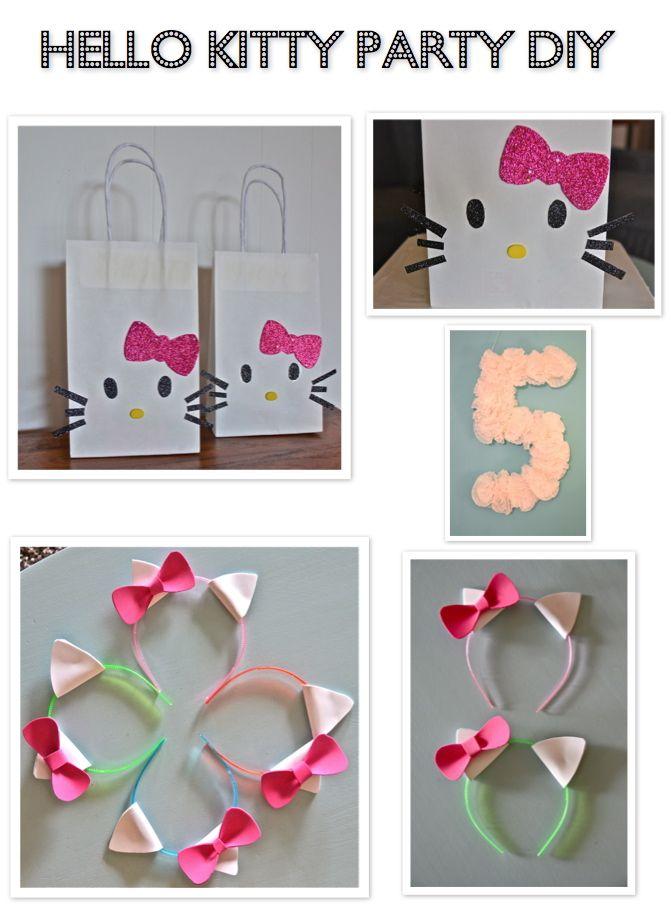 Hello Kitty DIY birthday party